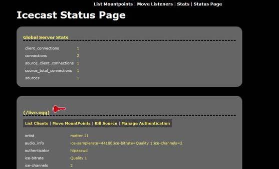 Icecast Docs — Listener Authentication